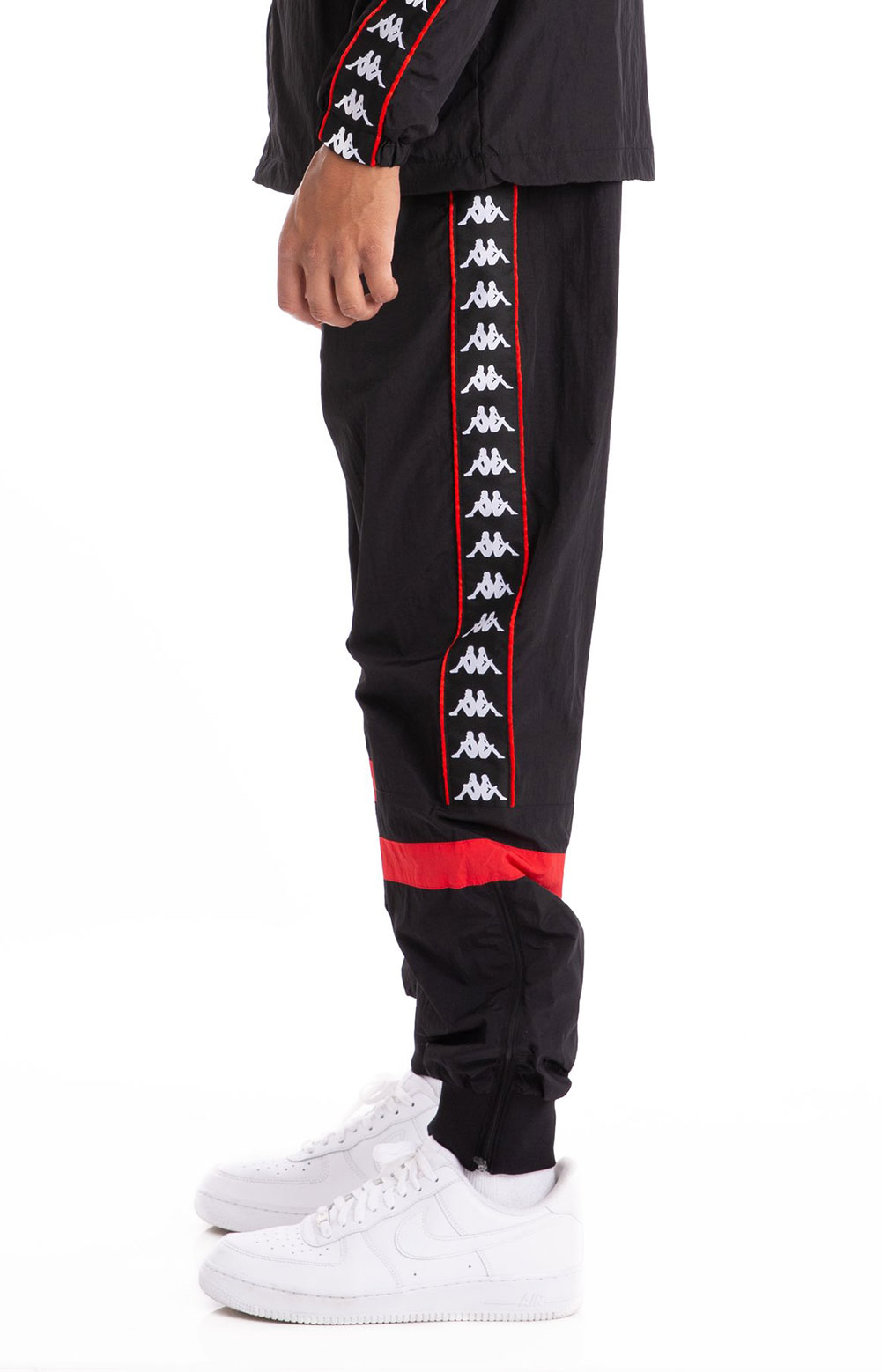 222 Banda Braka Woven Pants - Black/Red 2