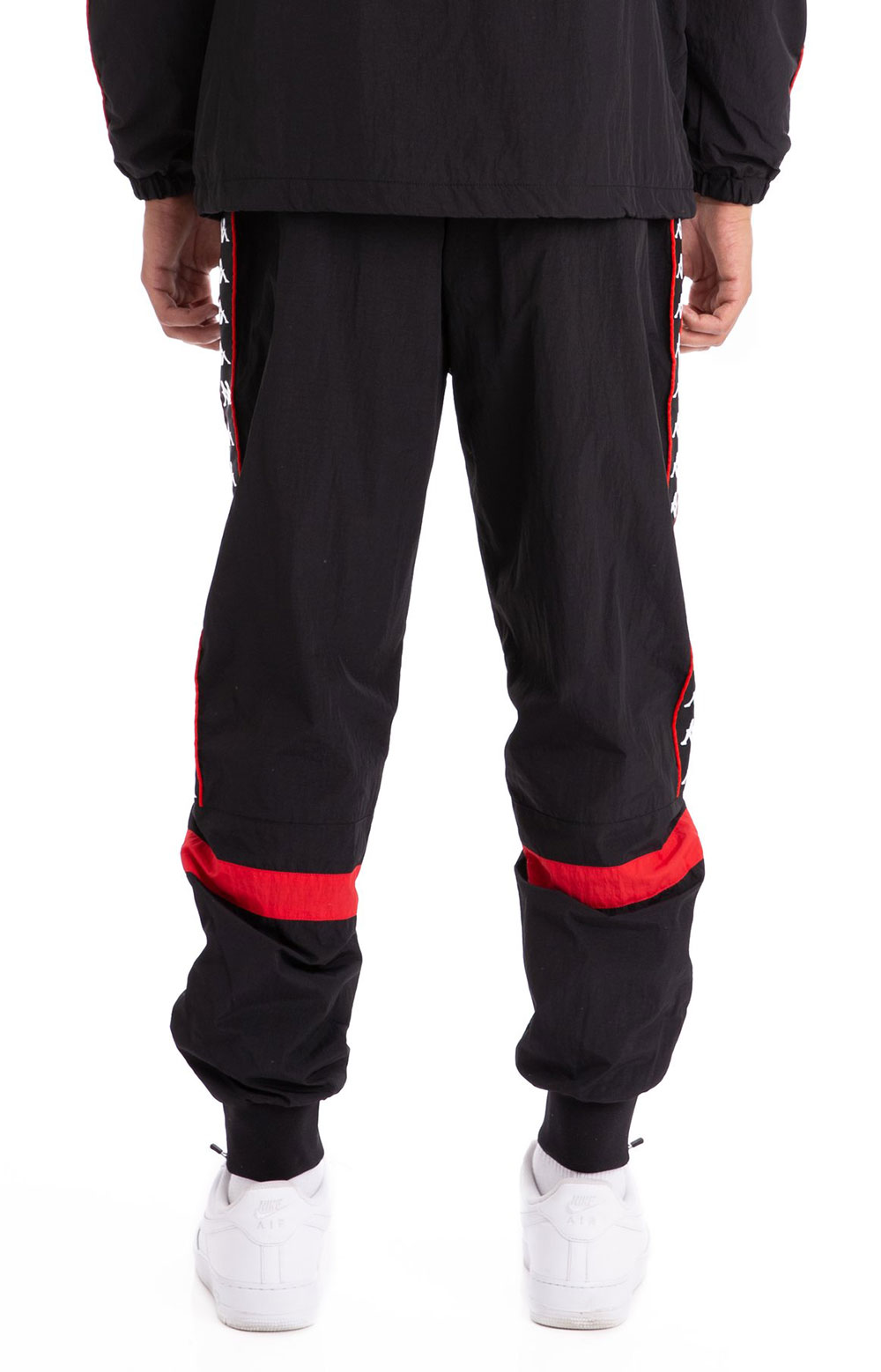 222 Banda Braka Woven Pants - Black/Red 3