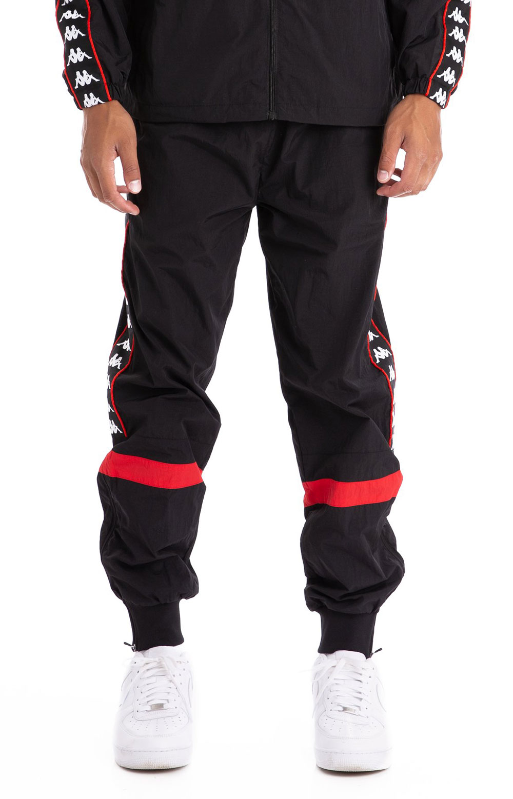 222 Banda Braka Woven Pants - Black/Red