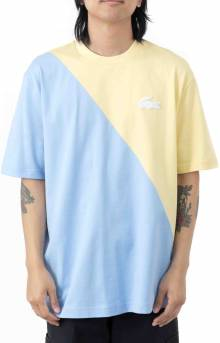 LIVE Loose Fit Colorblock T-Shirt - Yellow/Blue