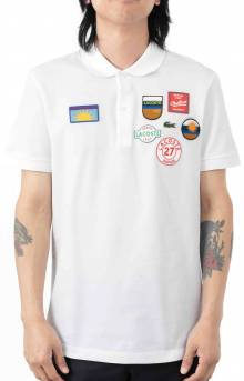 Patchwork Regular Fit Cotton Polo - White