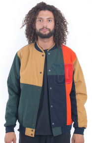 Arise Patch Varsity Jacket - Multi