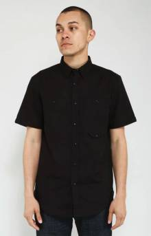 Basique Utility Button-Up Shirt - Black