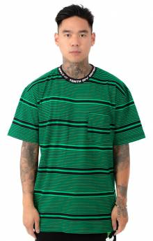 Foreigner Y/D Striped T-Shirt - Green