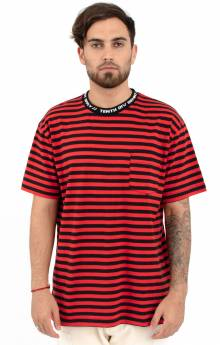 Foreigner Y/D Stripped T-Shirt - Red