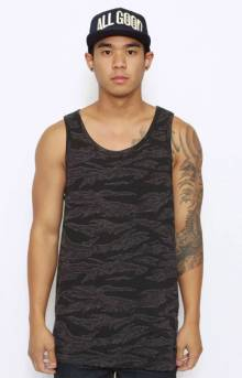 Ground Troops Tank Top - Black Tiger Camo