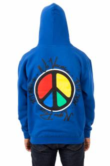 No Violence Know Peace Pullover Hoodie - Royal Blue