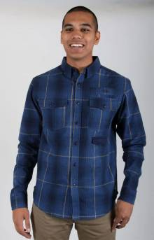 Ombre Flannel Button-Up Shirt