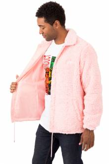 Poodle Fleece Coaches Jacket - Pink