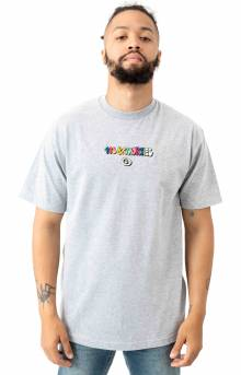 Bubble Logo T-Shirt - Heather Grey