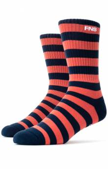 Canal Socks - Navy/Salmon