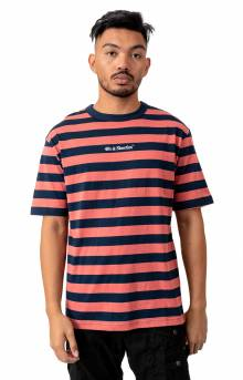 Canal T-Shirt - Navy/Salmon