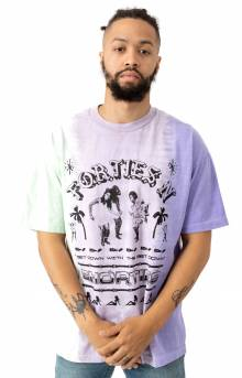 Get Down T-Shirt - Lime/Lavender/Purple