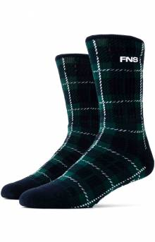 Plaid Socks - Navy