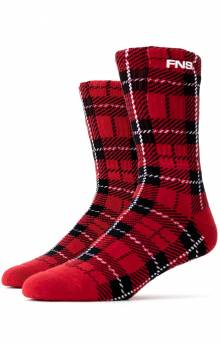 Plaid Socks - Red