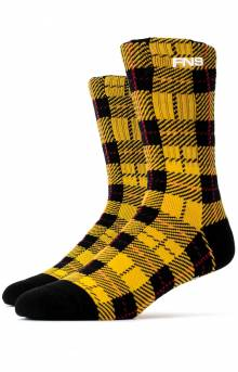 Plaid Socks - Yellow