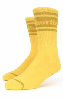 Text Logo Socks - Yellow
