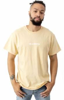 Text Logo T-Shirt - Vegas Gold