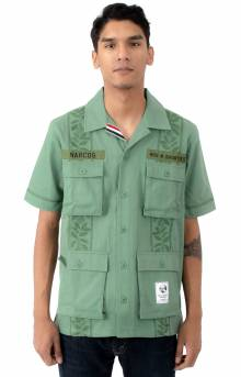 Search Bloc Button-Up Shirt - Olive