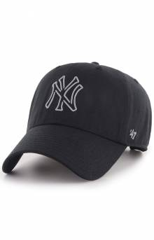 New York Yankees Afterglow '47 Clean Up Cap - Black