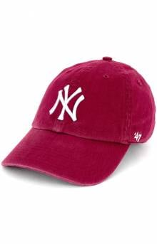 New York Yankees Clean Up Cap - Cardinal
