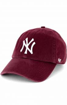 New York Yankees Clean Up Cap - Dark Maroon