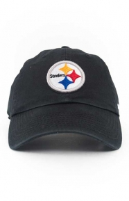 47 Clothing, Steelers Clean Up Cap - Black