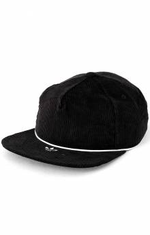 Corduroy Strap-Back Hat - Black