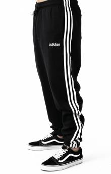 Essentials 3 Stripes Tapered Pants - Black/White