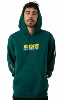 Food Party Pullover Hoodie - Collegiate Green/Multicolor