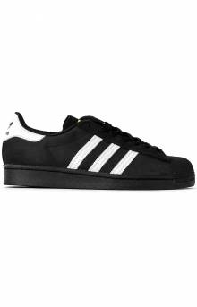 (FV0321) Superstar Adv Shoe - Black/White/Gold