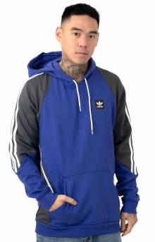 Insley Pullover Hoodie - Active Blue/Solid Grey/White