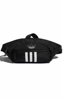 National 3 Stripes Waist Pack - Black/White