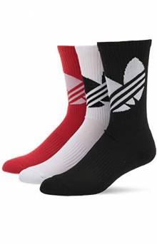 Original Big Trefoil 3 Pack Socks - White/Lush/Black