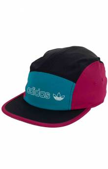 Originals Blocked 5 Panel Hat - Black/Active Teal/Berry/White