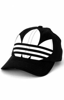 Originals Relaxed Big Trefoil Strap-Back Hat - Black/White
