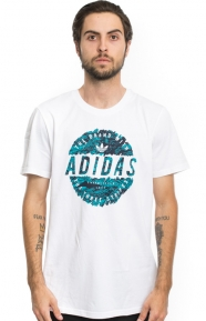 Scratched Stamp T-Shirt - White