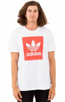 Solid BB T-Shirt - White/Trace Scarlet