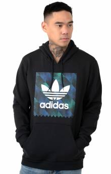 Towning Pullover Hoodie - Black/White/Active Blue