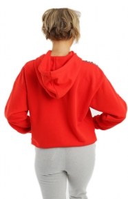 Adidas Women Clothing, Trefoil Pullover Hoodie - Core Red