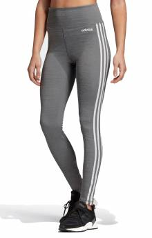 Design 2 Move 3 Stripes High Rise Long Tights - Dark Grey