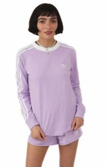 (DV2618) 3 Stripes L/S Shirt - Purple Glow