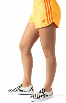 (EJ9343) 3 Stripes Short - Flash Orange