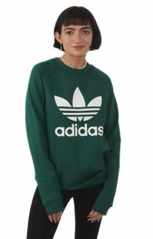 Trefoil Crewneck - Collegiate Green