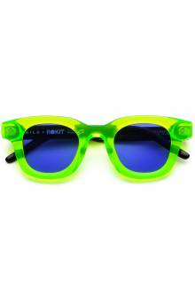 (1922 31 28 R) Apollo Sunglasses - Neon Green/Black Acetate