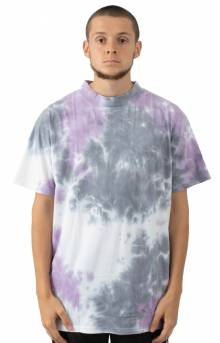 Lav S/S Mock Neck T-Shirt - White/Lavender