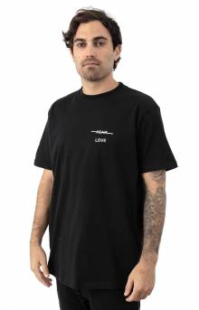 Love Over Fear Embroidered T-Shirt - Black