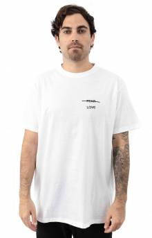 Love Over Fear Embroidered T-Shirt - White