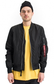 Alpha Industries Clothing, Dragonfly Blood Chit Flight Jacket - Black
