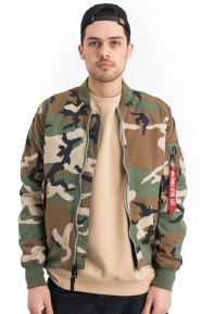 Alpha Industries Clothing, Dragonfly Blood Chit Flight Jacket - Woodland Camo